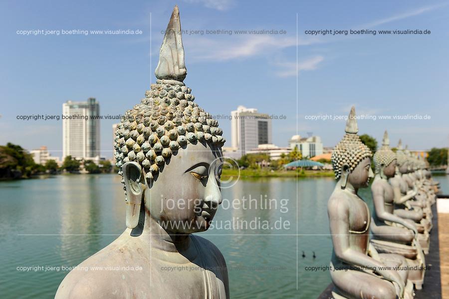 Sri Lanka Colombo, buddhist Simamalaka shrine on an island in Beira Lake
