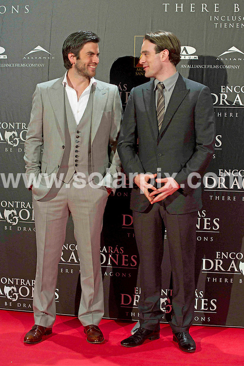 **ALL ROUND PICTURES FROM SOLARPIX.COM**                                             **WORLDWIDE SYNDICATION RIGHTS EXCEPT SPAIN - NO SYNDICATION IN SPAIN**                                                                                  Caption: attends There Be Dragons (Encontraras Dragones) premiere at Capitol cinema in Madrid, Spain. March 23, 2011                                                                    This pic:  Wes Bentley and Charlie Cox                                                                             JOB REF: 13018 DMS       DATE: 23_03_2011                                                           **MUST CREDIT SOLARPIX.COM OR DOUBLE FEE WILL BE CHARGED**                                                                      **MUST AGREE FEE BEFORE ONLINE USAGE**                               **CALL US ON: +34 952 811 768 or LOW RATE FROM UK 0844 617 7637**
