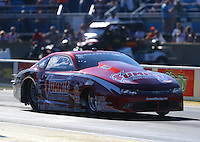 Jul 8, 2016; Joliet, IL, USA; NHRA pro stock driver Greg Anderson during qualifying for the Route 66 Nationals at Route 66 Raceway. Mandatory Credit: Mark J. Rebilas-USA TODAY Sports