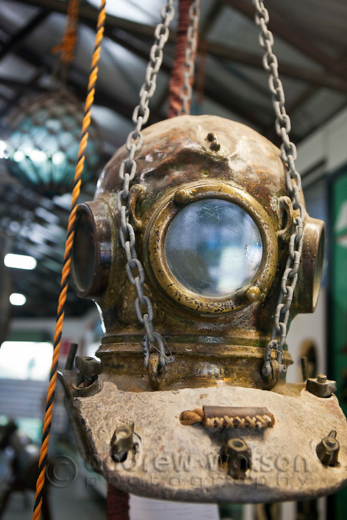 Pearl diving exhibit at the Torres Strait Heritage Museum.  Horn Island, Torres Strait Islands, Queensland, Australia
