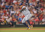 23 July 2016: San Diego Padres third baseman Yangervis Solarte in action against the Washington Nationals at Nationals Park in Washington, DC. The Nationals defeated the Padres 3-2 to tie their series at one game apiece. Mandatory Credit: Ed Wolfstein Photo *** RAW (NEF) Image File Available ***
