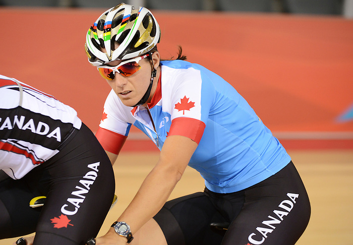 LONDON, ENGLAND – 08/24/2012:  Robbi Weldon during a training session at the London 2012 Paralympic Games at The Velodrome. (Photo by Matthew Murnaghan/Canadian Paralympic Committee)