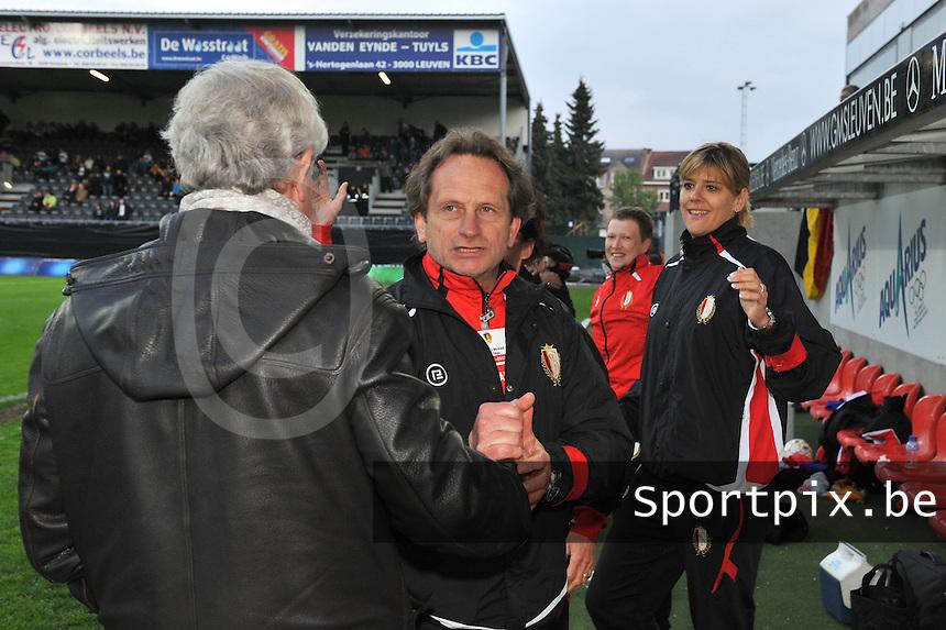 Bekerfinale 2012 : WD Lierse SK - Standard Femina :.vreugde bij Patrick Wachel en Ingrid Vanherle.foto David Catry / Joke Vuylsteke / Vrouwenteam.be