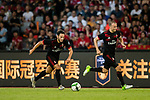 AC Milan Midfielder Hakan Calhanoglu (L) in action during the 2017 International Champions Cup China  match between FC Bayern and AC Milan at Universiade Sports Centre Stadium on July 22, 2017 in Shenzhen, China. Photo by Marcio Rodrigo Machado / Power Sport Images