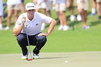 Jon Rahm (ESP) on the 2nd green during Friday's Round 2 of the 2017 PGA Championship held at Quail Hollow Golf Club, Charlotte, North Carolina, USA. 11th August 2017.<br /> Picture: Eoin Clarke | Golffile<br /> <br /> <br /> All photos usage must carry mandatory copyright credit (&copy; Golffile | Eoin Clarke)