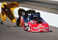 Oct. 15, 2011; Chandler, AZ, USA; NHRA funny car driver Jeff Diehl during qualifying at the Arizona Nationals at Firebird International Raceway. Mandatory Credit: Mark J. Rebilas-