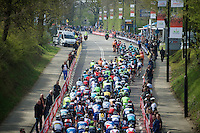 bunch up the Cauberg for the first time<br /> <br /> 50th Amstel Gold Race 2015