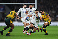 Ben Te'o of England breaks free during the Quilter International match between England and Australia at Twickenham Stadium on Saturday 24th November 2018 (Photo by Rob Munro/Stewart Communications)