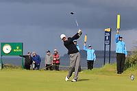 Brandt Shedeker (USA) during 1st round of the 148th Open Championship, Royal Portrush golf club, Portrush, Antrim, Northern Ireland. 18/07/2019.<br /> Picture Thos Caffrey / Golffile.ie<br /> <br /> All photo usage must carry mandatory copyright credit (© Golffile | Thos Caffrey)