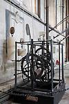 Medieval Clock in Salisbury Cathedral, Salisbury, England, UK