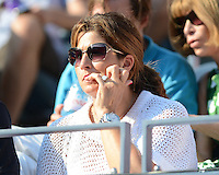 FLUSHING NY- SEPTEMBER 1: Mirka Federer watching Roger Federer Vs Fernando Verdasco on Arthur Ashe stadium at the USTA Billie Jean King National Tennis Center on September 1, 2012 in in Flushing Queens. © mpi04/MediaPunch Inc