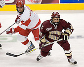 David Van der Gulik, Dan Bertram - The Boston University Terriers defeated the Boston College Eagles 2-1 in overtime in the March 18, 2006 Hockey East Final at the TD Banknorth Garden in Boston, MA.