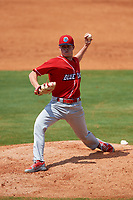 Lakewood BlueClaws starting pitcher David Parkinson (20) delivers a pitch during a game against the Greensboro Grasshoppers on June 10, 2018 at First National Bank Field in Greensboro, North Carolina.  Lakewood defeated Greensboro 2-0.  (Mike Janes/Four Seam Images)