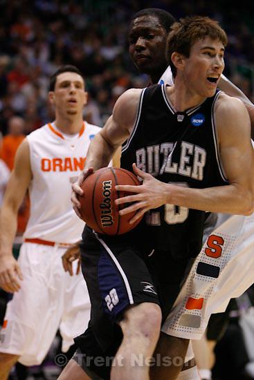 Trent Nelson  |  The Salt Lake Tribune.Salt Lake City - Butler vs. Syracuse, NCAA West Regional college basketball practice Thursday, March 25, 2010. Butler guard/forward Gordon Hayward (20)