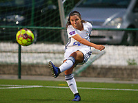 20190823 - OUD HEVERLEE BELGIUM : OHL's Luna Vanzier pictured during the female soccer game between the OHL Ladies vs KRC Genk Ladies, the first game for both teams in the Belgian Women's Super League , Friday 23rd  August 2019 at the OHL Jeugdcomplex , Belgium . PHOTO SPORTPIX.BE | SEVIL OKTEM