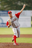 Williamsport Crosscutters pitcher Adam Morgan #37 during the second game of a doubleheader against the Batavia Muckdogs at Dwyer Stadium on August 25, 2011 in Batavia, New York.  Batavia defeated Williamsport 2-1.  (Mike Janes/Four Seam Images)