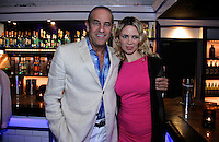 John D'Angelo and Emma Gilmore attend The Friends of Finn by the Shore party at Finale East on Aug. 2, 2014 (Photo by Taylor Donohue/Guest of a Guest)