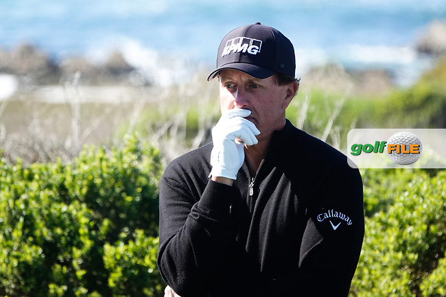 Phil Mickelson (USA) in action at Monterey Peninsula GC during the second round of the AT&T Pro-Am, Pebble Beach, Monterey, California, USA. 06/02/2020<br /> Picture: Golffile | Phil Inglis<br /> <br /> <br /> All photo usage must carry mandatory copyright credit (© Golffile | Phil Inglis)