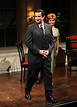 Anthony LaPaglia & Kathryn Erbe during the Curtain Call for the Opening Celebration of 'Checkers' at the Vineyard Theatre in New York City on 11/11/2012