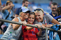 CHARLOTTE, NC - OCTOBER 03: Fans of the United States during a game versus Korea Republic at Bank of American Stadium, on October 03, 2019 in Charlotte, NC.