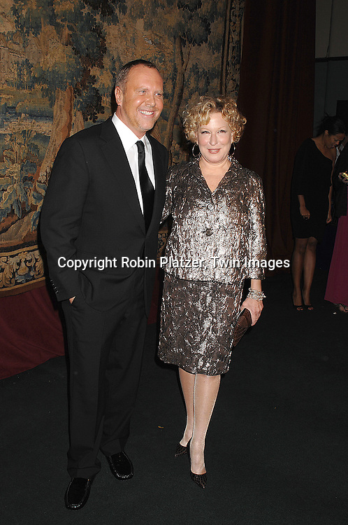 Michael Kors and Bette Midler..arriving at The 7th on Sale Black Tie Gala Dinner on ..November 15, 2007 at The 69th Regiment Armory in New York. The Fashion Industry's Battle Against HIV and AIDS..will benefit...Robin Platzer, Twin Images