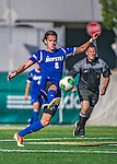 18 September 2013: Hofstra University Pride Midfielder Herbert Biste, a Senior from Halle, Germany, in action against the University of Vermont Catamounts at Virtue Field in Burlington, Vermont. The Catamounts defeated the visiting Pride 2-1. Mandatory Credit: Ed Wolfstein Photo *** RAW (NEF) Image File Available ***