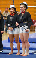 STANFORD, CA--March 1, 2013--Stanford's seniors Ashley Morgan and Nicole Dayton are honored before the start of Friday's, March 1, 2013, Gymnastics competition against Cal and Oregon State University on the Stanford University Campus. Stanford won the competition .STANFORD, CA--March 1, 2013--Stanford's seniors Ashley Morgan and Nicole Dayton are honored before the start of Friday's, March 1, 2013, Gymnastics competition against Cal and Oregon State University on the Stanford University Campus. Stanford won the competition .