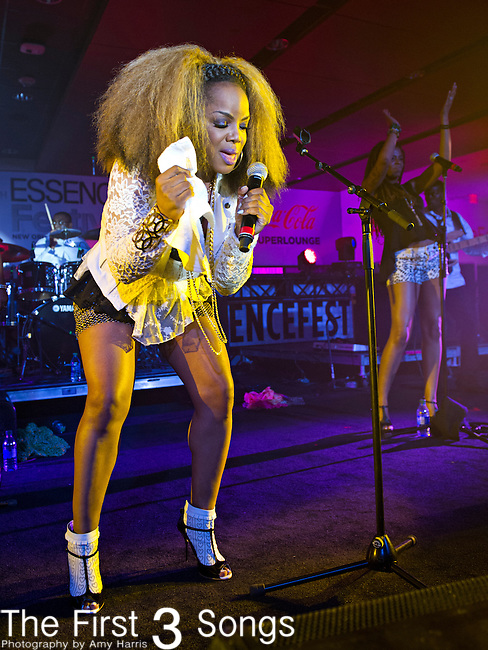 Leela James performs during the 2014 Essence Festival at the Mercedes-Benz Superdome in New Orleans, Louisiana.