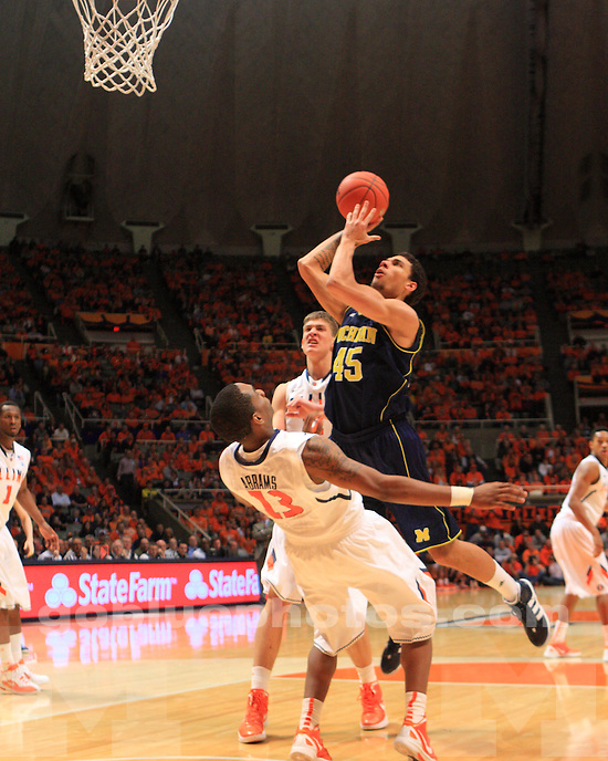 The University of Michigan men's basketball team defeated Illinois 72 - 61 at Assembly Hall in Bloomington, Ill., on March 1, 2012..