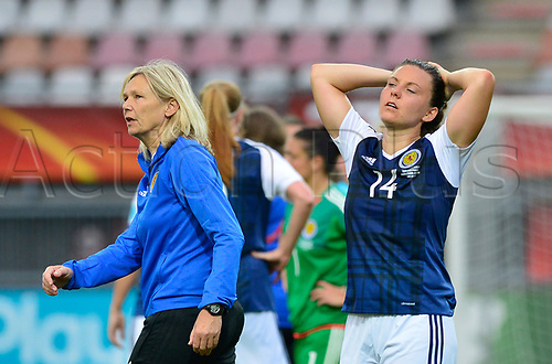 July 23rd 2017, Sparta Stadion, Rotterdam, Netherlands; Womens Euro 2017 Finals, Group D Match; Scotland versus Portugal; dejection on the face of Rachel Corsie as Scotland go behind in rhe game