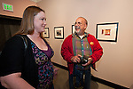 Two of the photographers Lacy Leonard and Javier Alonso at the opening of the Mission San Antonio de Padua Portfolio Workshop exhibition at the National Steinbeck Center Museum.