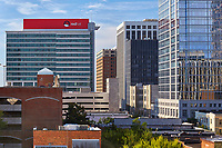 The RedHat tower and other downtown buildings in Raleigh, North Carolina