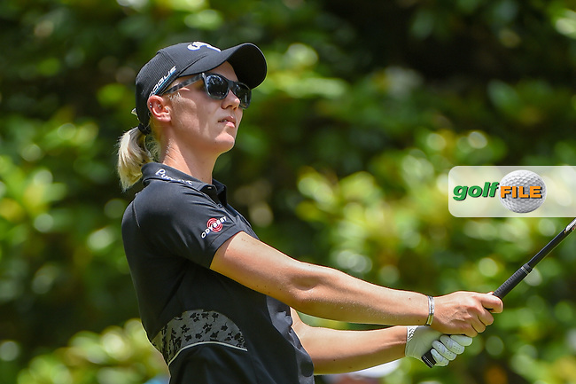 Madelene Sagstrom (SWE) watches her tee shot on 3 during round 4 of the U.S. Women's Open Championship, Shoal Creek Country Club, at Birmingham, Alabama, USA. 6/3/2018.<br /> Picture: Golffile | Ken Murray<br /> <br /> All photo usage must carry mandatory copyright credit (© Golffile | Ken Murray)