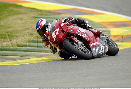 37. WILLIAM DE ANGELIS (ITA), Ducati, Superstock European Championship Race, Ricardo Tormo Circuit, Valencia 030302 Photo:Neil Tingle/Action Plus...2003 .man men motorcycle motorcycles bike bikes......  ..