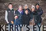 Jason, Calvin, Kathleen, Tommy, Steven, Sara and Billy Griffin (from Castlegregory) enjoying the New Year Eve celebrations in Dingle.