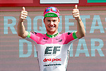 Simon Clarke (AUS) EF-Drapac-Cannondale wins Stage 5 of the La Vuelta 2018, running 188.7km from Granada to Roquetas del Mar, Andalucia, Spain. 29th August 2018.<br /> Picture: Unipublic/Photogomezsport | Cyclefile<br /> <br /> <br /> All photos usage must carry mandatory copyright credit (&copy; Cyclefile | Unipublic/Photogomezsport)