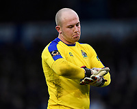 Altrincham  keeper Tony Thompson during Portsmouth vs Altrincham, Emirates FA Cup Football at Fratton Park on 30th November 2019