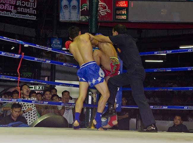 Bangkok, August 30,2011 Lumpini Muay Thai boxing stadium