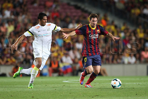 02.08.2013 Barcelona, Friendly football competition Joan Gamper Trophee.  Leo Messi  in action during the friendly match in the Nou Camp