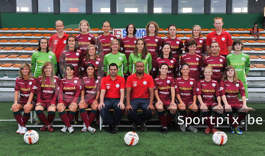 SV Dames Zulte Waregem : ploegfoto 2012 - 2013.foto DAVID CATRY / Vrouwenteam.be