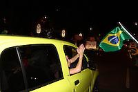 CURITIBA, PR, 16.03.2016 - PROTESTO-PR - Manifestante realizam protesto em frente a sede da Justiça Federal em Curitiba, nesta quarta-feira, 16. A presidente Dilma Rousseff anunciou que o ex presidente Luiz Inácio Lula da Silva será nomeado Ministro. (Foto: Paulo Lisboa/Brazil Photo Press)