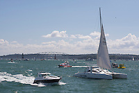 Boats in Auckland Harbour, New Zealand North Island