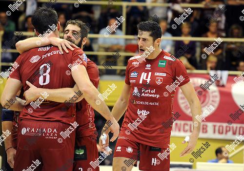 2014-10-29 / Volleybal / seizoen 2014-2015 / Topvolley Antwerpen - Asse-Lennik / Michael Andrei (r.)<br /><br />Foto: mpics.be