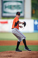 DL Hall (3) of Valdosta High School in Valdosta, Georgia playing for the Baltimore Orioles scout team during the East Coast Pro Showcase on August 3, 2016 at George M. Steinbrenner Field in Tampa, Florida.  (Mike Janes/Four Seam Images)
