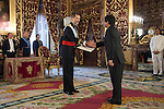 King of Spain Felipe VI receives and gives credential letters to India Republic´s ambassador Vikram Misri at Royal Palace `Palacio Real´in Madrid, Spain. October 06, 2014. (ALTERPHOTOS/Victor Blanco)