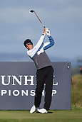 5th October 2017, The Old Course, St Andrews, Scotland; Alfred Dunhill Links Championship, first round; Benjamin Hebert of France tees off on the fifteenth hole on the Old Course, St Andrews during the first round at the Alfred Dunhill Links Championship