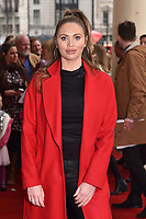 Amy Childs attends the Celebrity Gala Performance of 'Where Is Peter Rabbit?' at The Theatre Royal in London, England. Tuesday 9th April 2019.<br /> CAP/JWP<br /> ©JWP/Capital Pictures