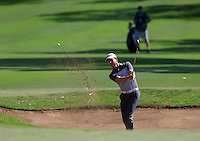 Brett Rumford (AUS) on the 1st during Round 1 of the ISPS HANDA Perth International at the Lake Karrinyup Country Club on Thursday 23rd October 2014.<br /> Picture:  Thos Caffrey / www.golffile.ie