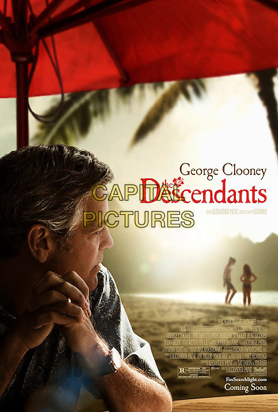 GEORGE CLOONEY POSTER ART.in The Descendants.*Filmstill - Editorial Use Only*.CAP/FB.Supplied by Capital Pictures.