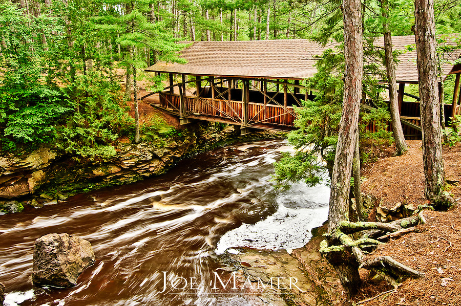 Covered bridge at Amnicon Falls State Park near Superior Wisconsin.